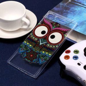 For Sony Xperia XZ1 Tribal Owl Pattern TPU Protective Case