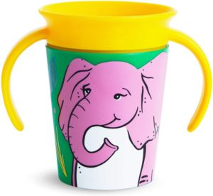 Munchkin Miracle 360 Degrees Deco Trainer Cup Κύπελλο 6m+ 177ml - Elephant (51772)