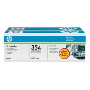 HP 35A Black Dual Pack LaserJet Toner Cartridges (CB435AD)