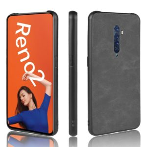 For Oppo Reno2 Shockproof Sheep Skin PC + PU + TPU Case(Light black)