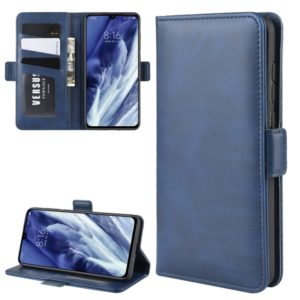 For Xiaomi Mi 9 Pro Dual-side Magnetic Buckle Horizontal Flip Leather Case with Holder & Card Slots & Wallet & Photo Frame(Dark Blue)
