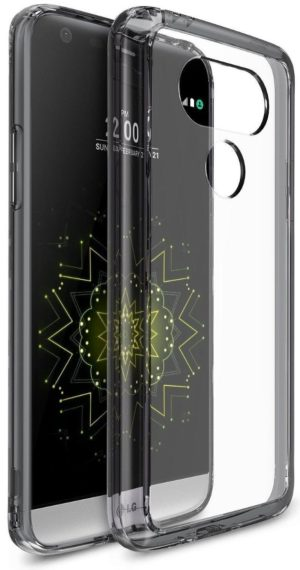 Ringke (Fusion) Διάφανη Θήκη LG G5 με TPU Bumper Smoke Black + Screen Protector(7708)
