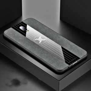 For OPPO R17 XINLI Stitching Cloth Textue Shockproof TPU Protective Case(Gray) (XINLI)