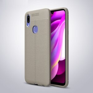 Litchi Texture TPU Shockproof Case for vivo V11i (Grey)