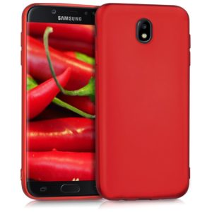 KW Θήκη Σιλικόνης Samsung Galaxy J7 2017 (Version J730F) - Metallic Red (42289.36)