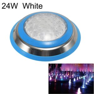 24W LED Stainless Steel Wall-mounted Pool Light Landscape Underwater Light(White Light)