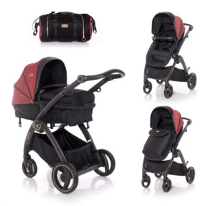 Lorelli καρότσι Adria 2 in 1 Black & Red 10021452006