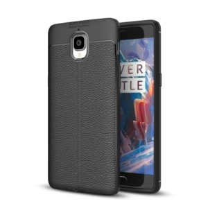 For OnePlus 3 / 3T Litchi Texture TPU Protective Case(Black)
