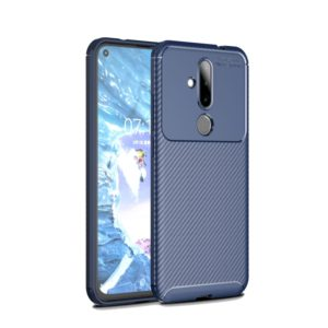 Carbon Fiber Texture Shockproof TPU Case for Nokia 6.2 / X71 (Blue)