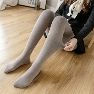 Plus Thick Velvet Warm Cashmere Leggings Stockings Even Stockings Pregnant(Color:Light coffee Size:One Size)