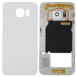 Full Housing Cover (Back Plate Housing Camera Lens Panel + Battery Back Cover ) for Galaxy S6 Edge / G925(White)