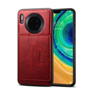 For Huawei Mate 30 Dibase Crazy Horse Texture Protective Case, with Holder & Card Slots(Red) (dibase)