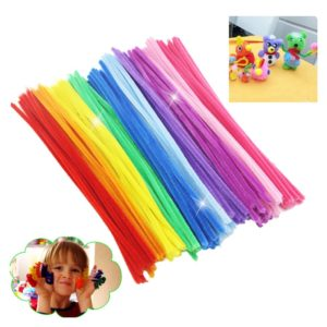 300pcs/lot Montessori Materials Math Chenille Stems Sticks Puzzle Craft Children Pipe Cleaner Educational Creative Toy