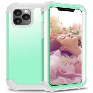 For iPhone 11 Pro Max PC+ Silicone Three-piece Anti-drop Mobile Phone Protective Bback Cover(Green)