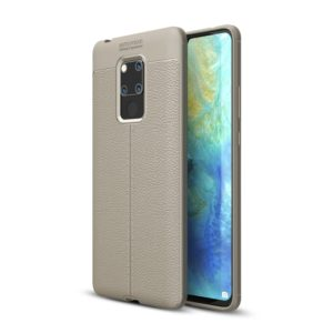 Litchi Texture TPU Shockproof Case for Huawei Mate 20 X (Grey)