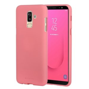 GOOSPERY SOFT FEELING Solid Color Dropproof TPU Protective Case for Samsung Galaxy J8 (2018) (Pink) (GOOSPERY)