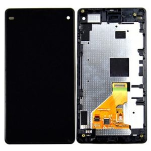 LCD Display + Touch Panel with Frame for Sony Xperia Z1 Compact(Black)