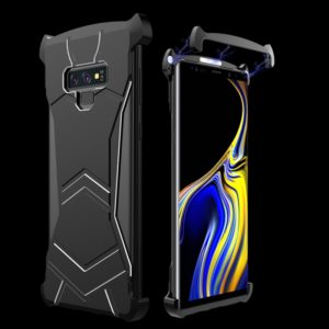 R-JUST Magnet Adsorption Metal Polished Texture Phone Case for Galaxy Note 9 (Black)