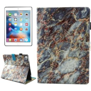 For iPad Pro 10.5 inch Brown Marble Pattern Horizontal Flip Leather Protective Case with Holder & Card Slots & Wallet & Pen Slot &Sleep / Wake-up