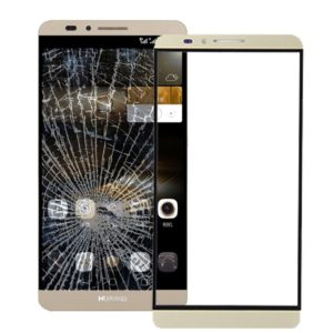 10 PCS Front Screen Outer Glass Lens for Huawei Ascend Mate 7(Gold)