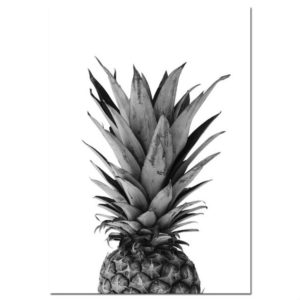 Modern Minimalist Pineapple Letter Frameless Decorative Painting Living Room Core, Size:40x50cm(Pineapple)