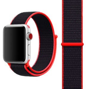 Simple Fashion Nylon Watch Strap for Apple Watch Series 5 & 4 40mm / 3 & 2 & 1 38mm, with Magic Stick(Red)
