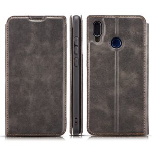 Retro Simple Ultra-thin Magnetic Horizontal Flip Leather Case for Xiaomi Redmi Note 7, with Holder & Card Slots & Lanyard(Black)