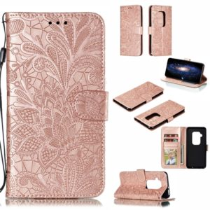 Lace Flower Horizontal Flip Leather Case with Holder & Card Slots & Wallet for Motorola One Pro(Rose Gold)