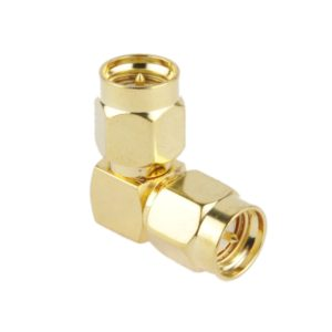 Gold Plated SMA Male to SMA Male Adapter with 90 Degree Angle