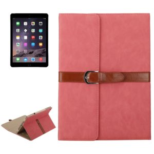 Bussiness Style Horizontal Flip Leather Case with 2-Folding Holder & Buckle for iPad mini 3 / 2 / 1(Pink)