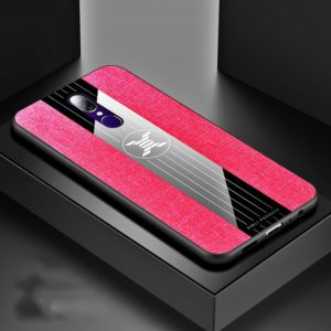 For OPPO A9 XINLI Stitching Cloth Textue Shockproof TPU Protective Case(Red) (XINLI)