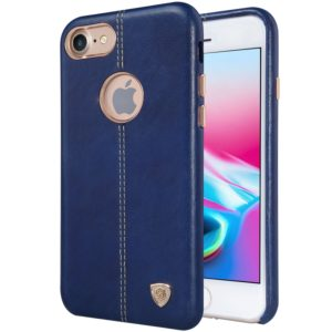 NILLKIN Englon Case for iPhone 8 Business Style Crazy Horse Leather Surface Protective Case(Navy Blue) (NILLKIN)