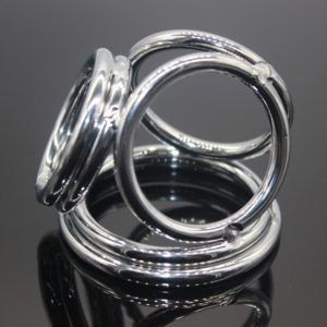 Male Delay Ejaculation Six Rings Penis Abuse Manganese Steel Penis Ring, Size: L (FunAdd)