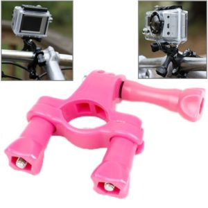 TMC Handlebar Seatpost Pole Mount Bike Moto Bicycle Clamp for GoPro NEW HERO /HERO6 /5 Session /5 /4 Session /4 /3+ /3 /2 /1, Xiaoyi Sport Cameras(Magenta) (TMC)