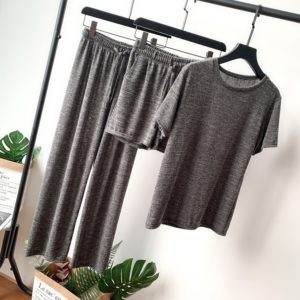 Three-piece Lazy Home Casual Suits, Size: One Size(Gray )