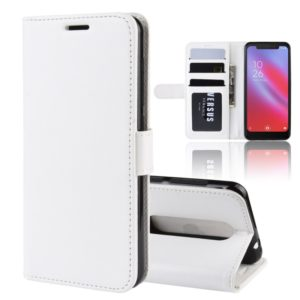 R64 Texture Single Fold Horizontal Flip Leather Case for Vodafone Smart N10 / VFD 630, with Holder & Card Slots & Wallet(white)