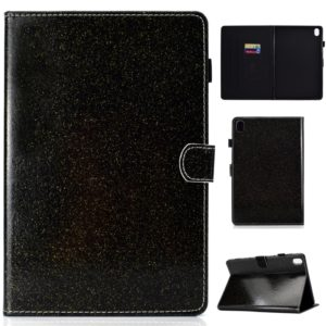 For Huawei MediaPad M6 8.4 Varnish Glitter Powder Horizontal Flip Leather Case with Holder & Card Slot(Black)