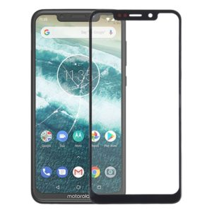 Front Screen Outer Glass Lens for Motorola One (P30 Play)(Black)