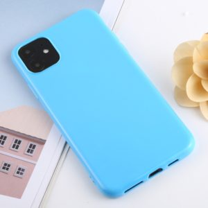 For iPhone 11 Candy Color Plastic Protective Case(Blue)
