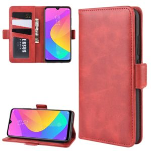 Dual-side Magnetic Buckle Horizontal Flip Leather Case for Xiaomi Mi CC9e / Mi A3, with Holder & Card Slots & Wallet & Photo Frame(Red)
