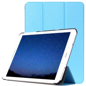 Custer Texture Horizontal Flip Leather Case with 3-folding Holder for Galaxy Tab S2 9.7 / T815(Blue)