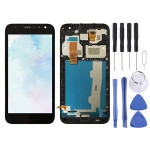 LCD Screen and Digitizer Full Assembly with Frame for Alcatel A3 5046 / 5046D / 5046X / OT5046 (Black)