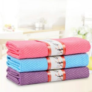 3 PCS Kitchen Glass Window Soft Fiber Clean Towel 40×50 cm, Colour:Color