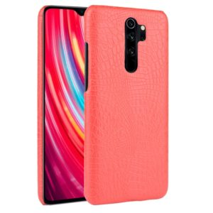 For Xiaomi Redmi Note 8 Pro Shockproof Crocodile Texture PC + PU Case(Red)