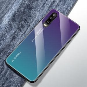For Huawei P30 Gradient Color Glass Case(Purple)