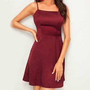 Sexy Women Halter Dress (Color:Red Size:M)