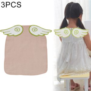 3 PCS Cotton Yarn Feather Wings Pattern Sweat-absorbent Back Towel for Child, Size: L, Random Color Delivery