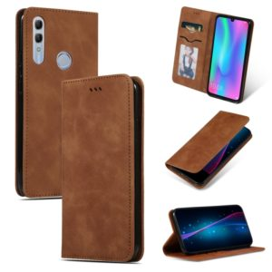 Retro Skin Feel Business Magnetic Horizontal Flip Leather Case for Huawei Honor 10 Lite / Honor 20 Lite / Honor 10i / Honor 20i(Brown)
