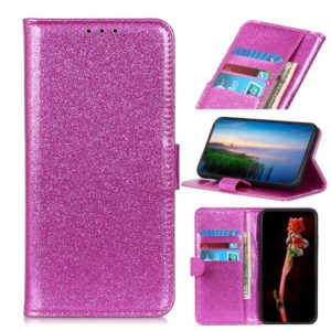 Glitter Powder Waterproof Horizontal Flip Leather Case with Holder & Card Slots & Wallet for LG W10(Purple)