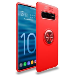 lenuo Shockproof TPU Protective Case for Galaxy S10, with Invisible Holder(Red) (lenuo)